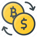 bitcoin, exchange icon