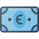 bill, cash, euro, money icon