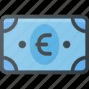 money, bill, cash, euro icon