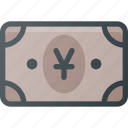 bill, cash, money, yen icon