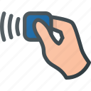 contactless, hand, pass, pay, payment icon