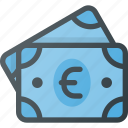 currency, euro, money, pack, payment, stack icon