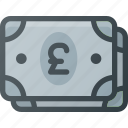currency, money, pack, payment, pound, stack icon