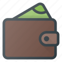 cash, money, pay, purse, wallet icon