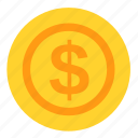 coin, currency, dollar, money, payment, usd icon