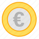 coin, currency, eur, euro, income, money, payment icon