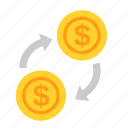 coin, currency, dollar, exchange, money, payment, usd icon