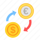 coin, currency, dollar, euro, exchange, money, payment icon