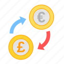 coin, currency, euro, exchange, money, payment, poundsterling icon
