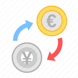 coin, currency, euro, exchange, money, payment, yen icon