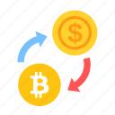 bitcoin, coin, currency, dollar, exchange, money, payment icon