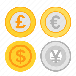 coin, currency, earning, exchange, income, money, payment icon