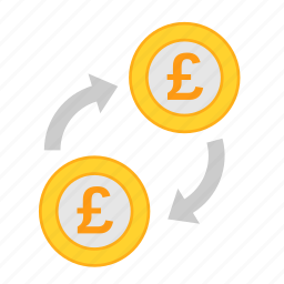 coin, currency, exchange, gbp, money, payment, poundsterling icon