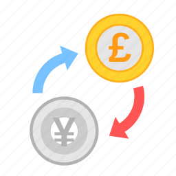 coin, currency, exchange, money, payment, poundsterling, yen icon