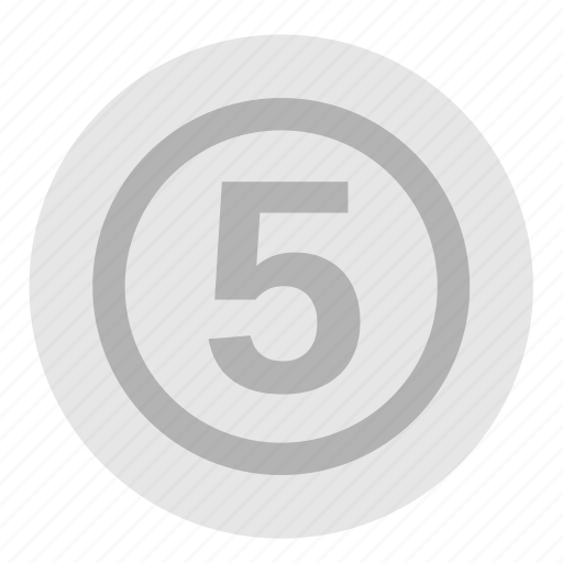 cent, coin, currency, dollar, five, money, payment icon