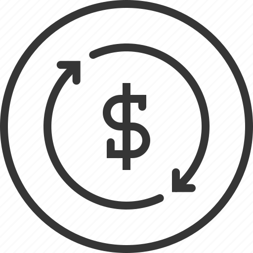 arrow, bank, cash, income, investment, revenues, savings icon