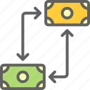 business, economy, exchange, finance, money icon