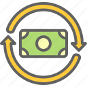 atm, bank, business, coin, economy, money, rotation icon