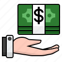 cash payment, money, pay cash, payment, receive money, receive payment icon