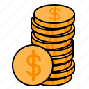 coins, gold, gold coins, money, payment icon