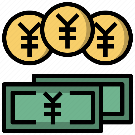 cash, coin, currency, money, yen icon
