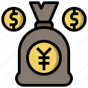 bag, bank, banking, business, currency, money icon