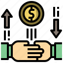 banking, money, online, transfer icon