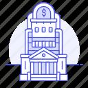 bank, building, edifice, finance, money