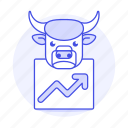 2, bull, finance, graph, investing, line, market, markets, money, price, rise, share, up icon