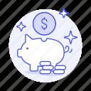 bank, coin, money, saving, shine, piggy, dollar, finance