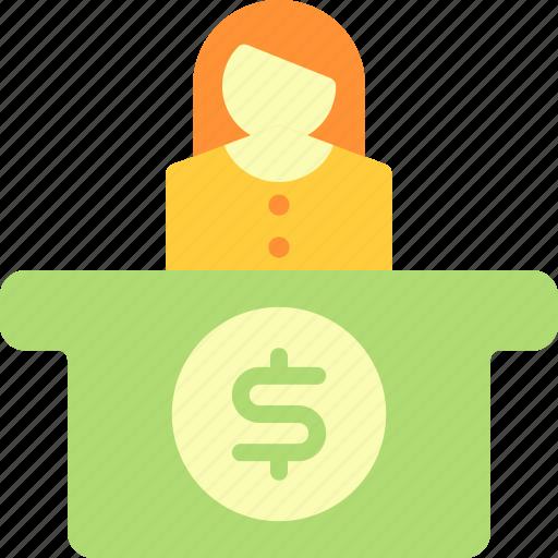 business, economy, finance, teller icon