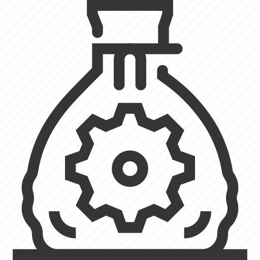 bank, budget, cash, gear, income, investment, money bag icon
