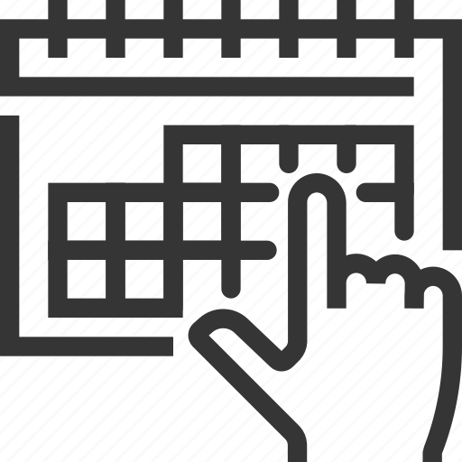 bl, calendar, day, deadline, hand, month, schedule icon