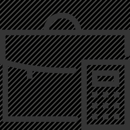 bag, bl, briefcase, business, calculator, portfolio, suitcase icon