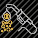 business, cash, flow, oil icon