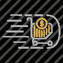 basket, business, flow, market, trends icon