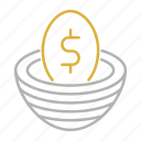 business, egg, flow, money