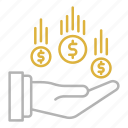 business, charity, flow, money icon