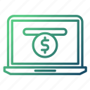 ecommerce, money flow, online, payment icon