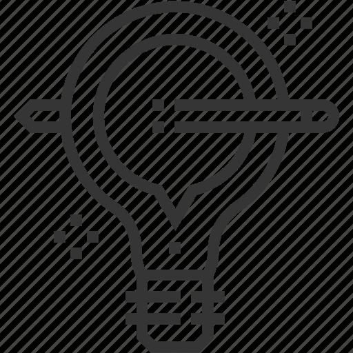 bubble, chat, creativity, idea, lamp, pen icon