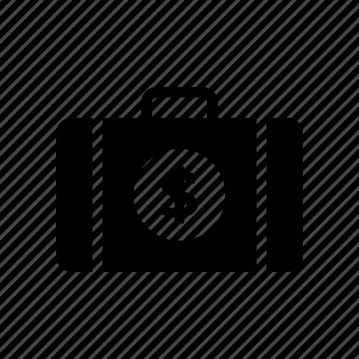 bag, briefcase, dollar, money, portfolio icon