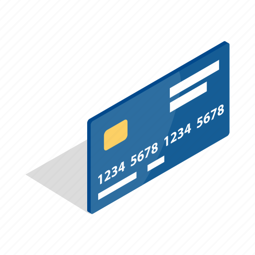 bank, business, card, finance, isometric, metal, wealth icon