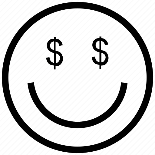 business, concept, dollar eyes, smiley icon