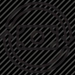 atm, bank, business, economy, finance, money, rotation icon