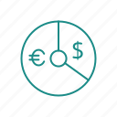 chart, convert, currency, graph icon