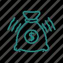 bag, cash, sack icon
