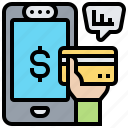 credit, online, payment, shopping, smartphone