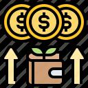 income, money, profit, salary, wallet icon