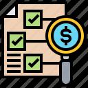 checklist, expense, non, structure, variable icon