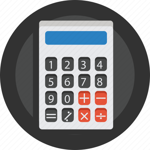 bank, calculate, calculator, money, number icon